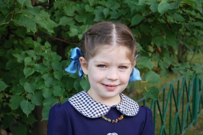 Portrait of smiling girl stock photos
