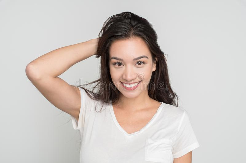 Happy young woman royalty free stock image