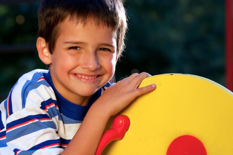 Portrait of smiling little boy royalty free stock photos