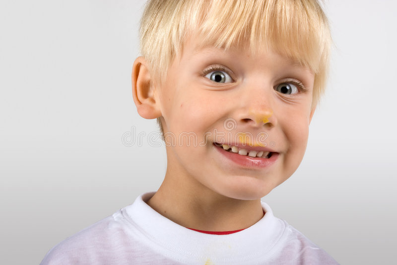 Download Portrait Of Smiling Little Boy Stock Photo - Image: 7064754