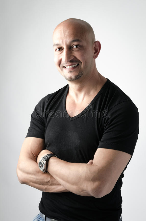 Download Portrait of a smiling man stock photo. Image of casual - 25311250