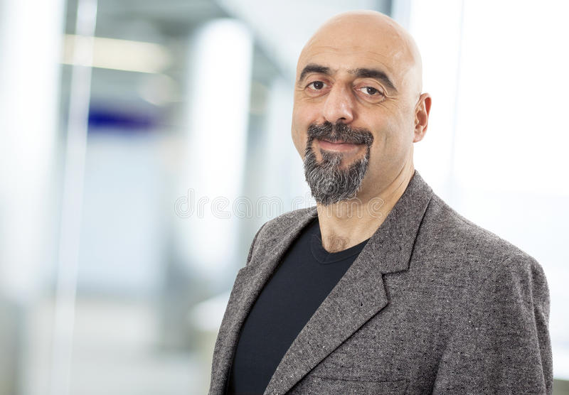 Portrait of smiling man stock image