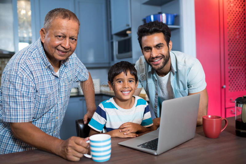 Portrait of smiling multi generation family royalty free stock images