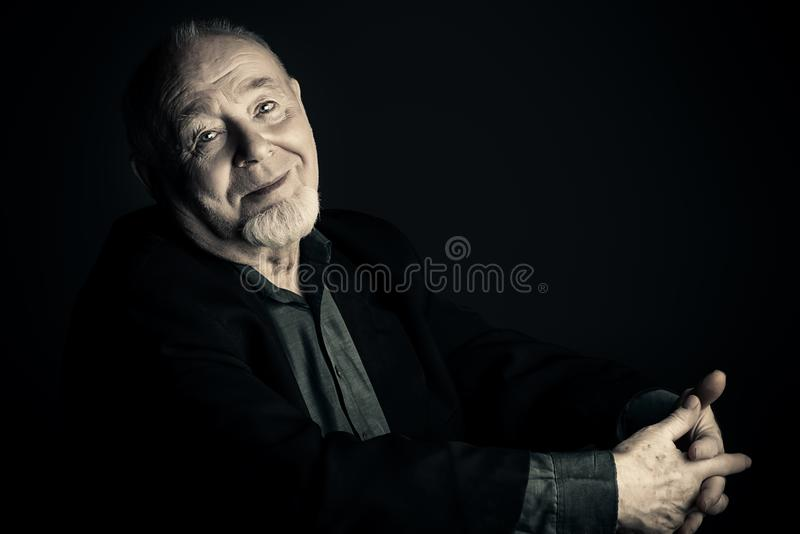 Positive old man stock image