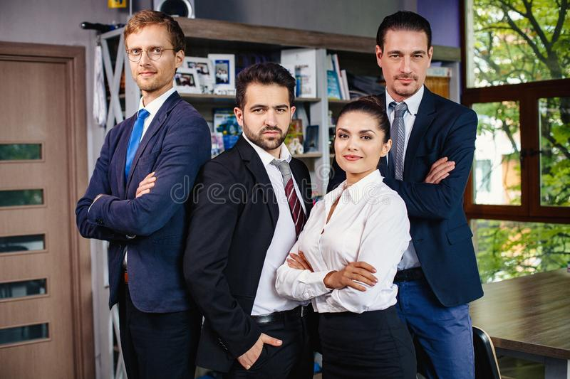 Confident team of a successful business people. stock photography