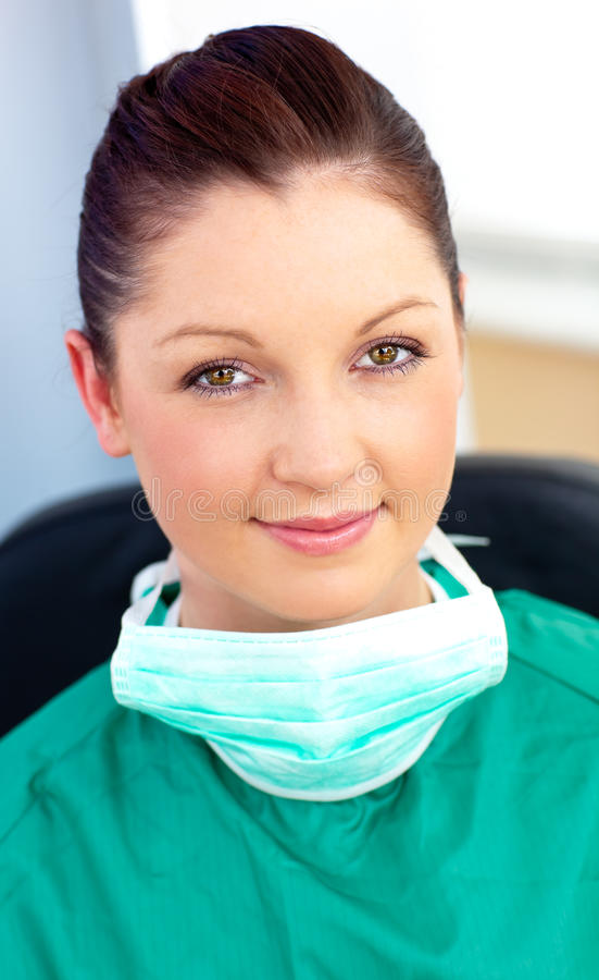 Portrait of a smiling surgeon in her office royalty free stock photos