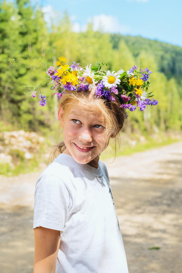 Portrait of a smiling teenage girl royalty free stock images