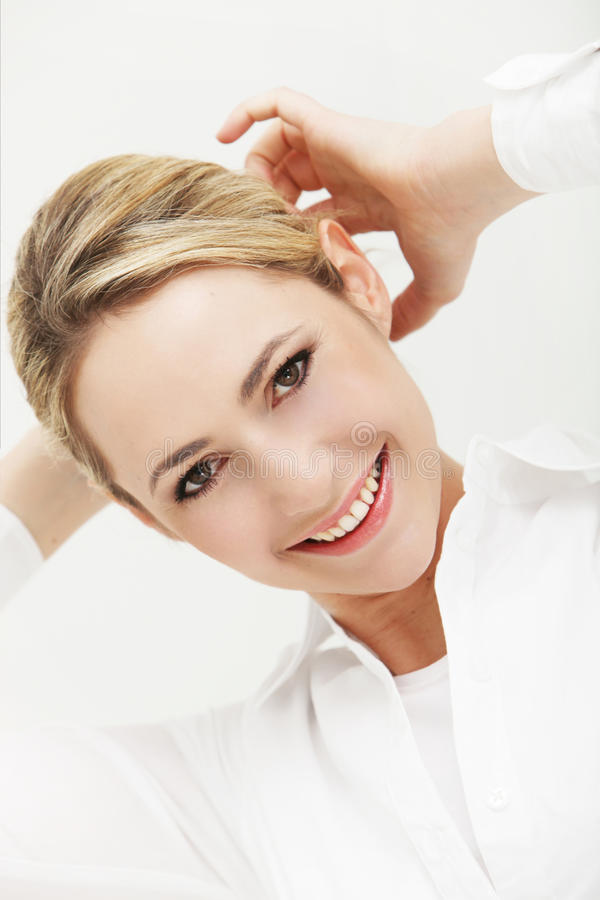 Download Portrait of smiling woman stock photo. Image of pretty - 24380534