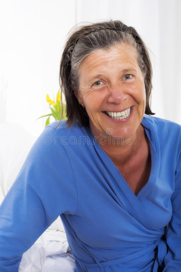 Portrait of smiling woman. Portrait of a smiling woman royalty free stock photos