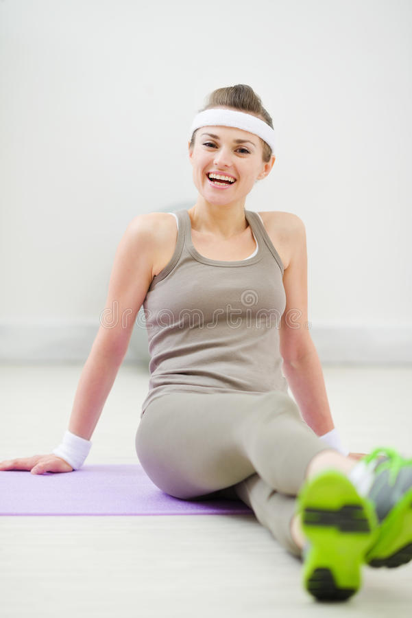 Download Portrait Of Smiling Woman In Sportswear Stock Photo - Image of thin, fitness: 24591958