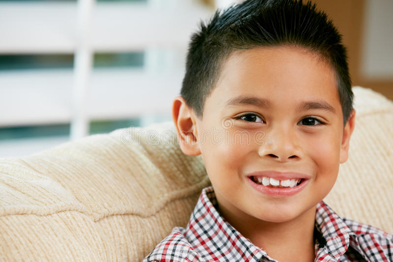 Download Portrait Of Smiling Young Boy Stock Photo - Image: 28083416