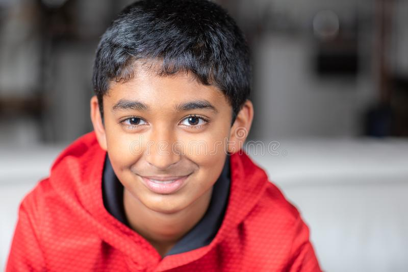 Portrait of a Smiling Young Boy stock photos