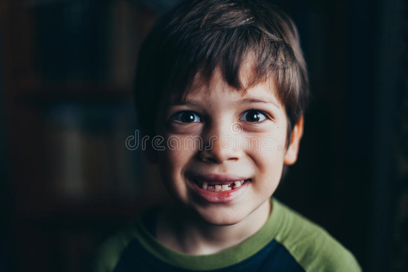 Portrait of smiling young boy royalty free stock photos
