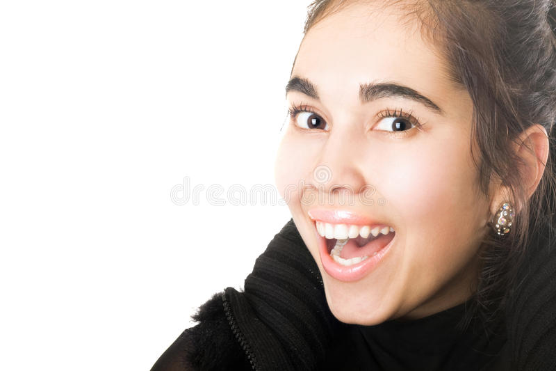 Download Portrait Of Smiling Young Brunette. Isolated Royalty Free Stock Image - Image: 15798646