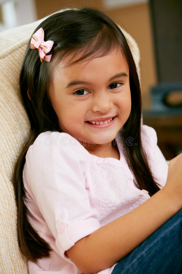 Download Portrait Of Smiling Young Girl Stock Photo - Image: 28083432