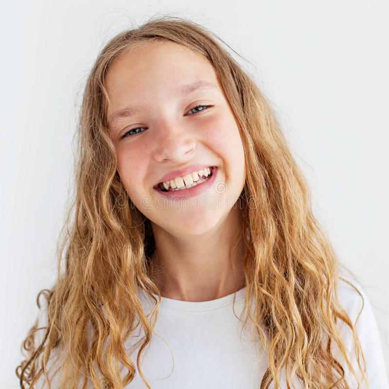 Portrait smiling young girl teen royalty free stock photos