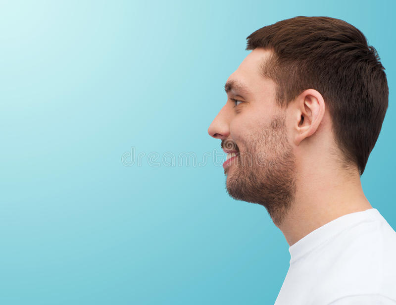 Portrait of smiling young handsome man royalty free stock photos