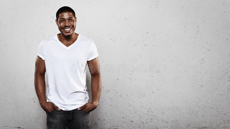 Portrait of a smiling young man royalty free stock images