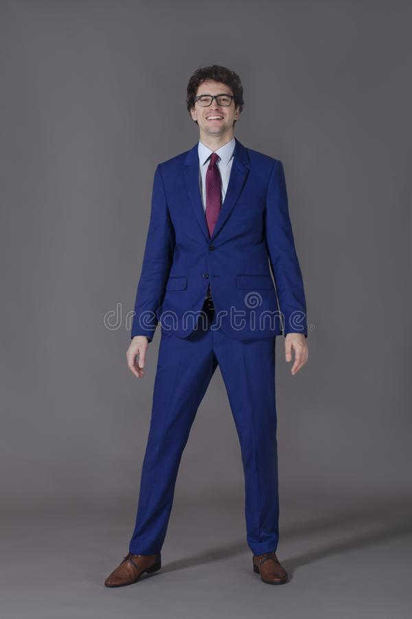 Portrait of smiling young man standing stock photos