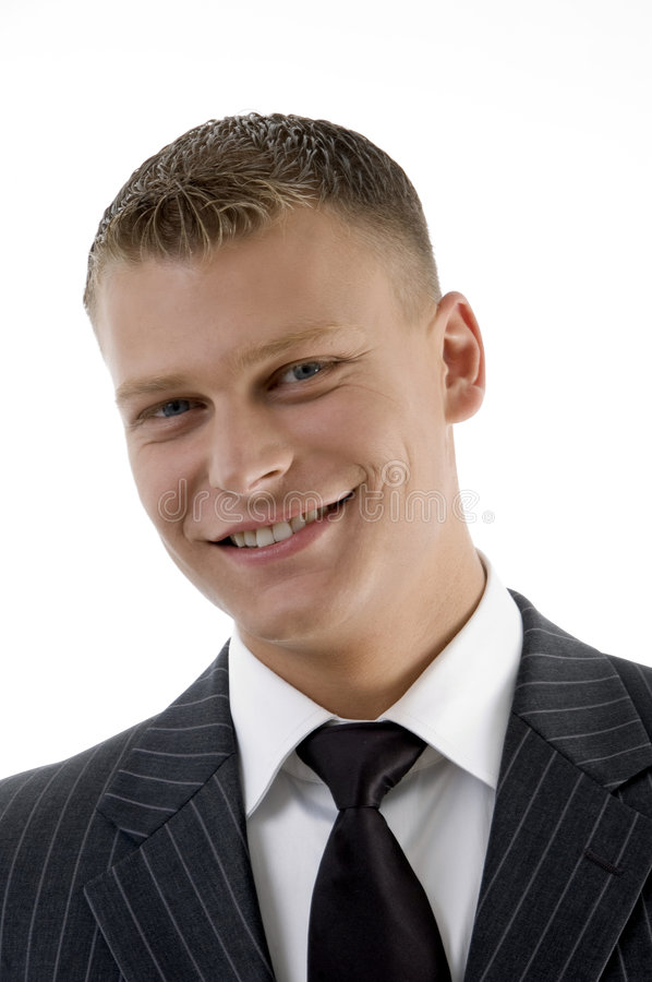 Download Portrait Of Smiling Young Manager Stock Image - Image of provider, portrait: 7116577