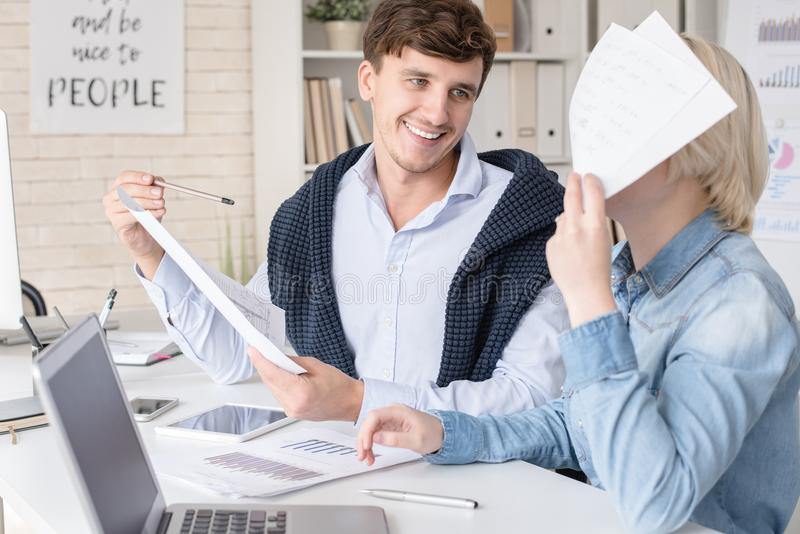 Young People Enjoying Work royalty free stock photo