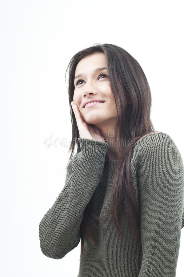 Portrait of a smilling woman stock image