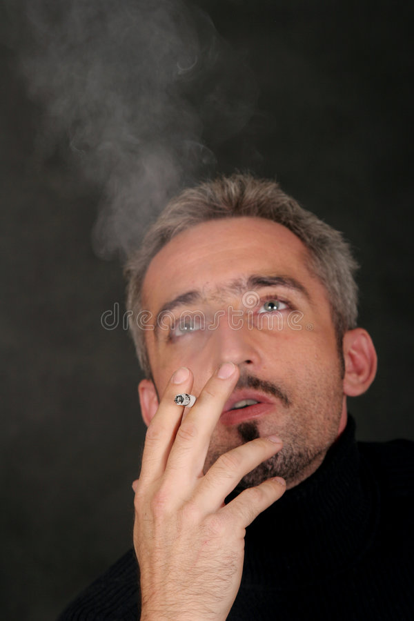 Download Portrait Of A Smoker 2 Royalty Free Stock Image - Image: 1422826