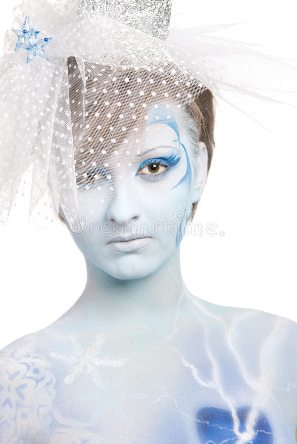 Portrait Of Snow Queen Royalty Free Stock Photo