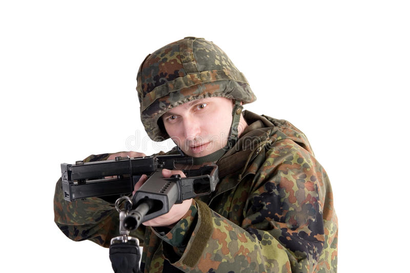 Download Portrait of a soldier stock image. Image of person, firing - 12187025