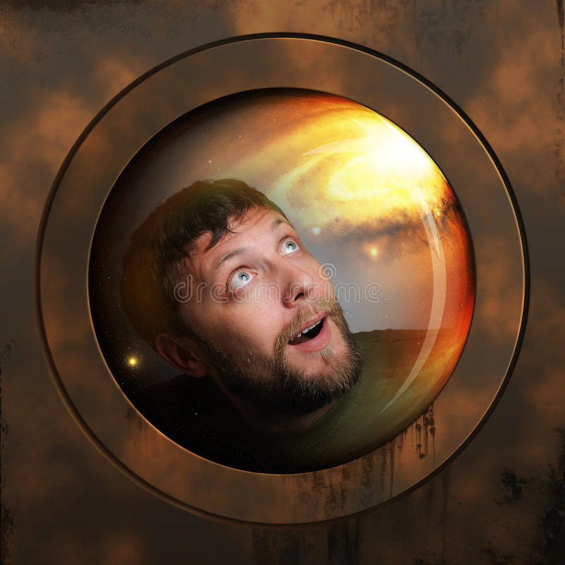 Download Portrait Of A Spaceman In A Spaceship Stock Image - Image: 19643223