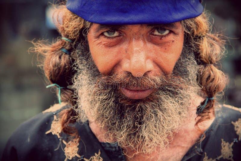 Portrait of a Spiritual Guru. A spiritual guru posed for Portrait in Gujranwala, Pakistan stock photos