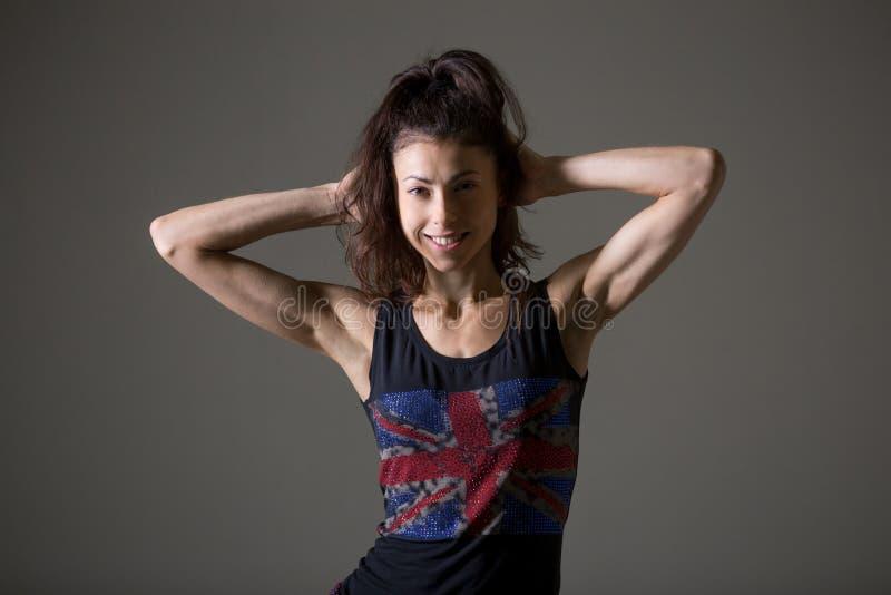 Portrait sportif de jeune femme image stock