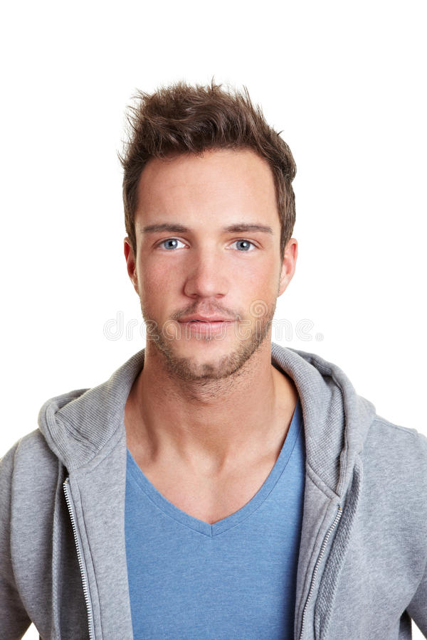 Portrait of a sportive young man stock photography