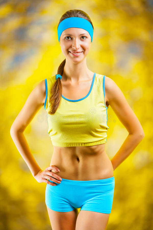 Download Portrait of a sports girl stock image. Image of female - 27579547