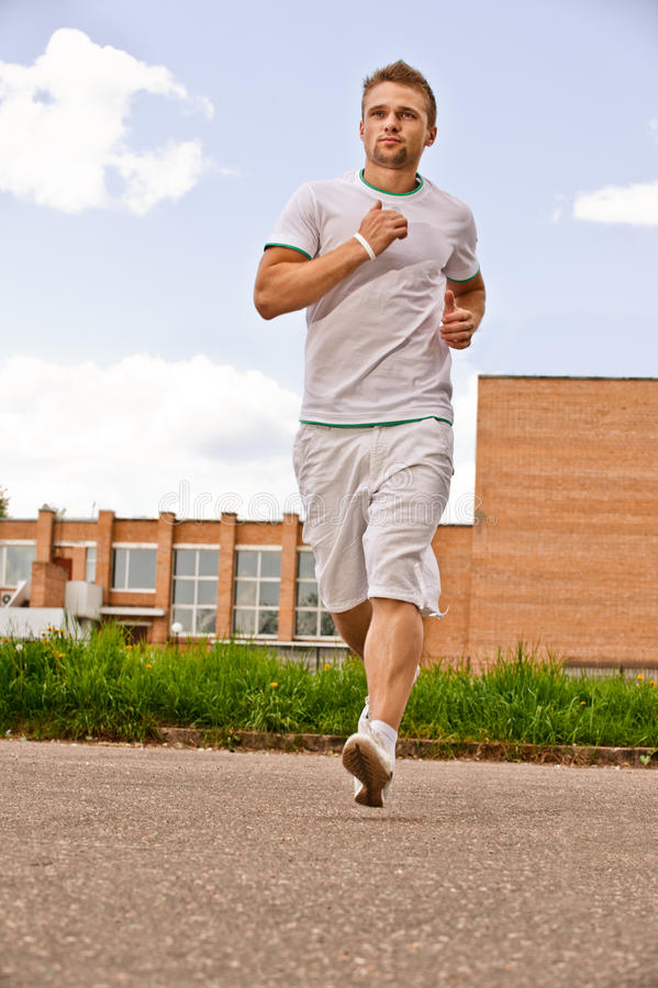 Download Portrait of sportsman runs stock image. Image of contemporary - 14542649