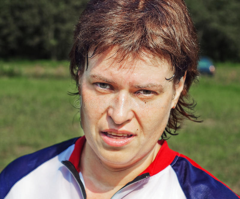Download Portrait Of The Sportswoman After Competitions Stock Photography - Image: 16155602