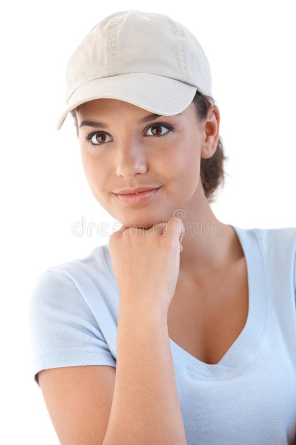 Portrait of sporty girl royalty free stock image