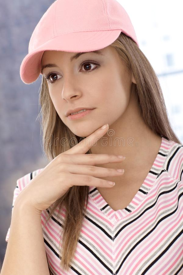 Portrait of sporty girl royalty free stock images