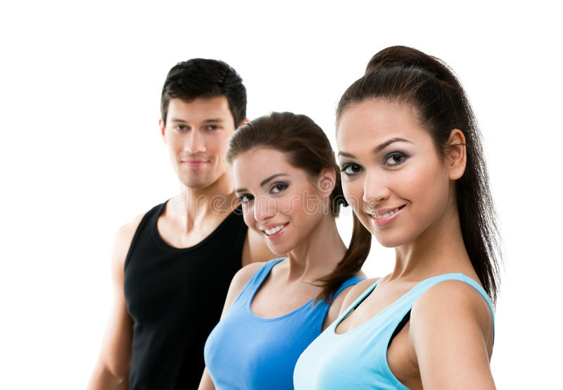Download Portrait Of Sporty People In Perspective Stock Image - Image: 28882395