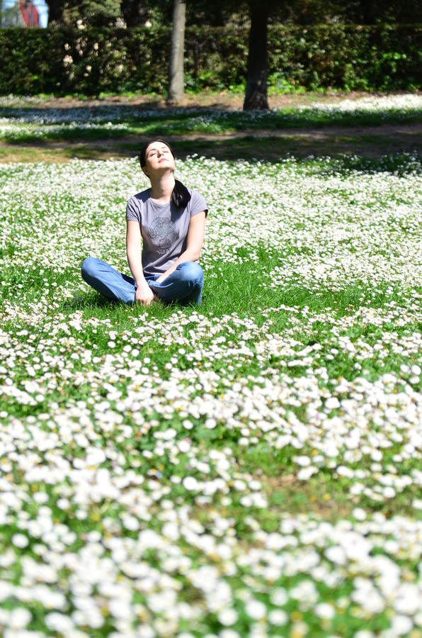 Download Portrait of spring stock image. Image of attractive, breathing - 19074753