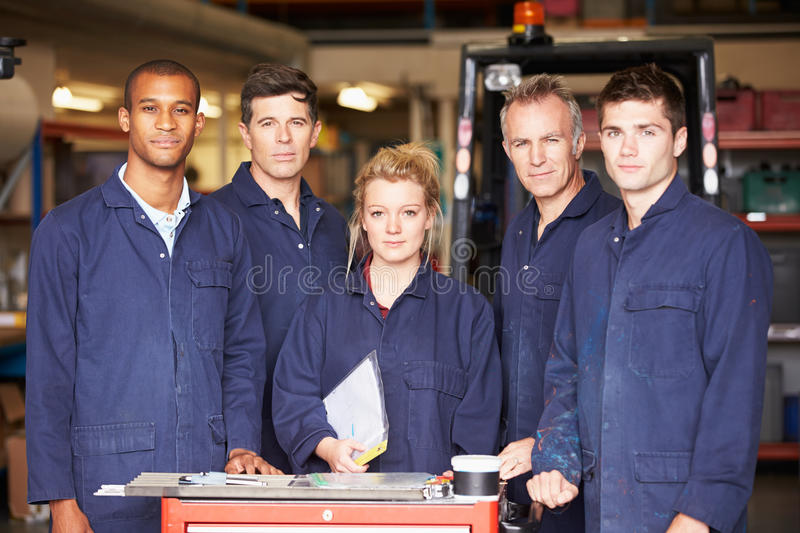 Download Portrait Of Staff Standing In Engineering Factory Royalty Free Stock Photography - Image: 34158647