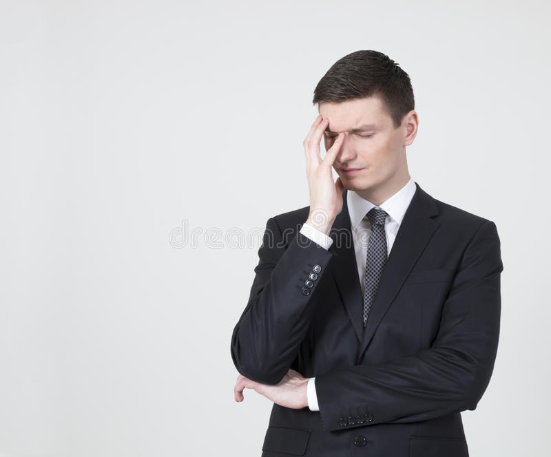Portrait of a stressed businessman stock photography