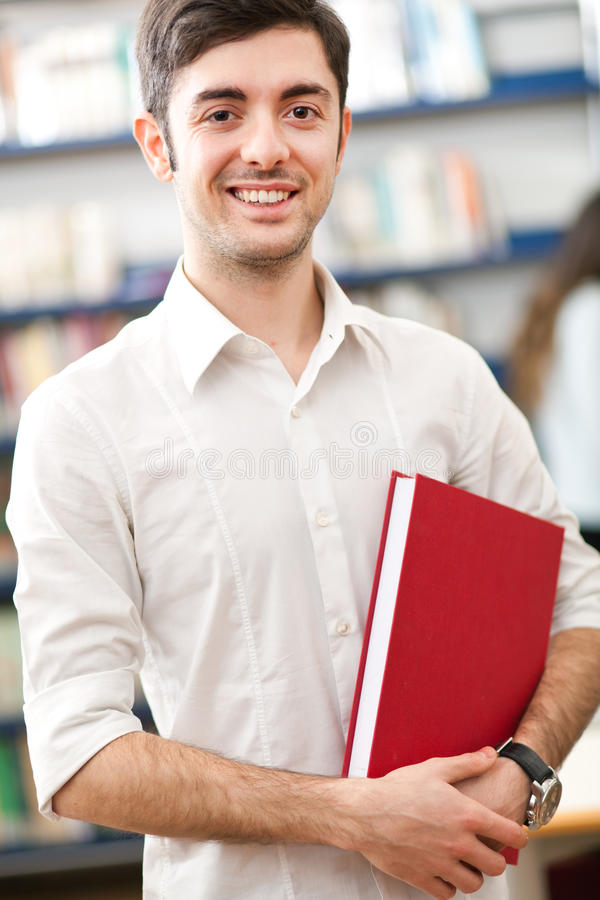 Download Student in a library stock image. Image of attractive - 29743013