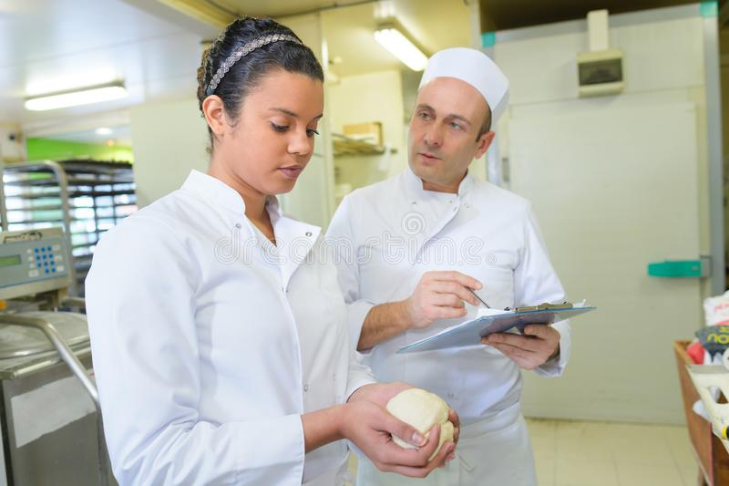 Portrait student in pastry training course royalty free stock photo