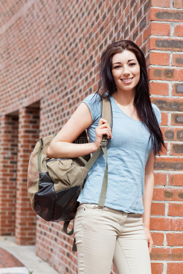 Download Portrait Of A Student Standing Up Stock Image - Image: 21248179