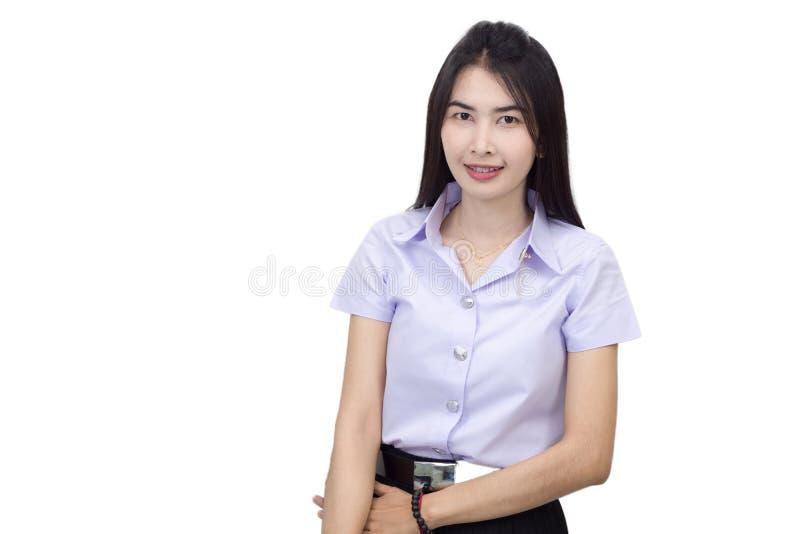 Portrait of student university uniform royalty free stock image
