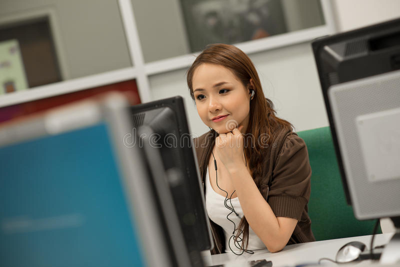 Young programmer royalty free stock photos