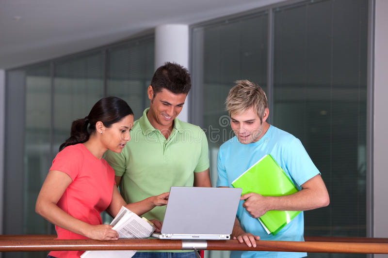 Download Portrait of study group stock photo. Image of learning - 9390618