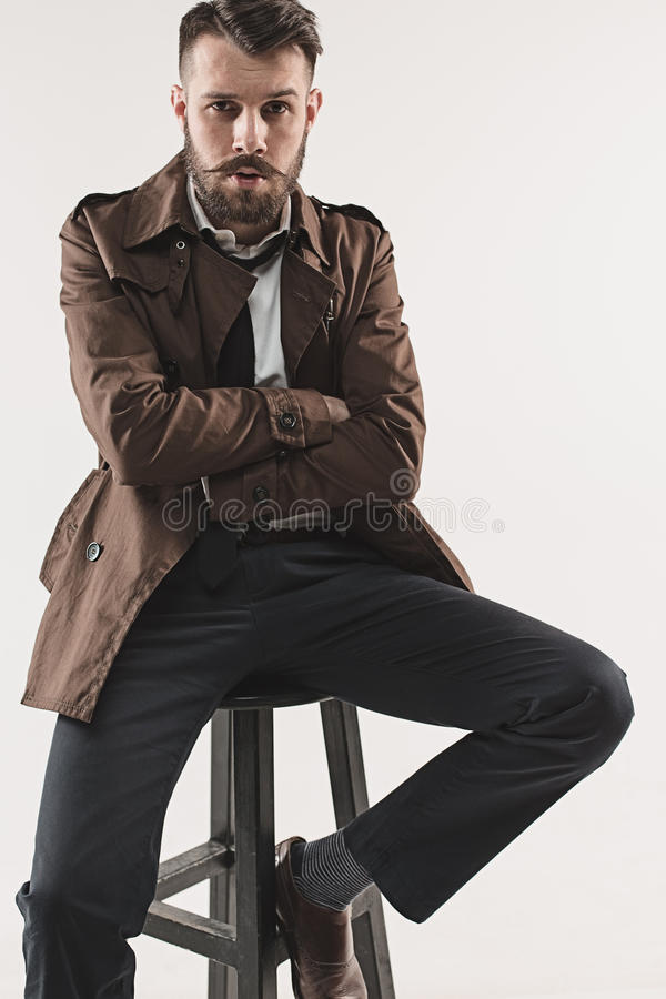 Portrait of stylish handsome young man royalty free stock photo