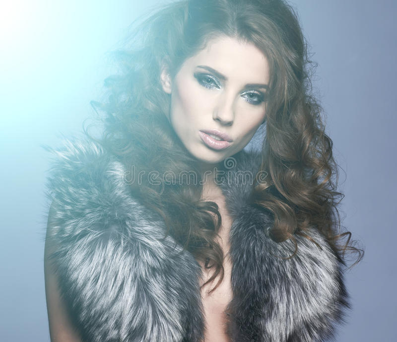 Download Portrait Of Stylish Woman In Fur Royalty Free Stock Image - Image: 28044256